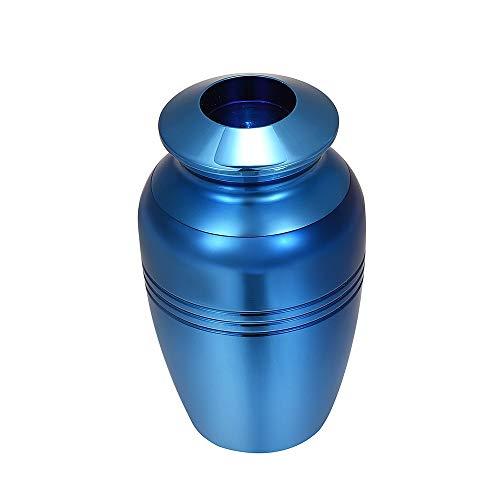 TIANZXS Mini Cremation Urn Gravierbare Beerdigung Kerzenhalter halten Asche Andenken Urnen Edelstahl Feuerbestattung Schmuck