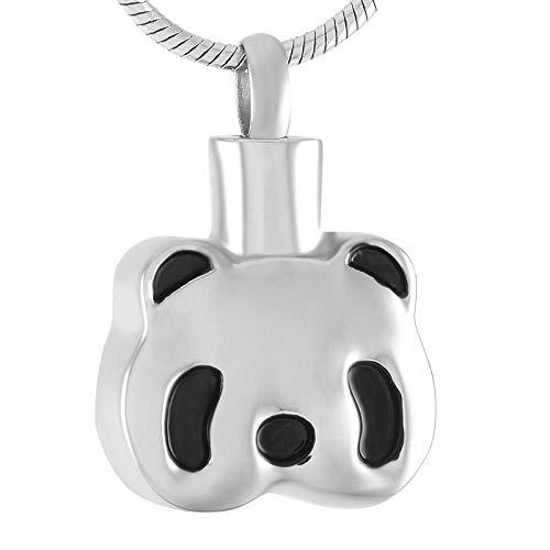 Cenizas Inoxidablecolgante De Acero Joyería De Urna Conmemorativa Para Mujeres Y Hombres, Recuerdo De Cenizas De Animales, Collar De Cremación De Panda, Joyería De Acero Inoxidable