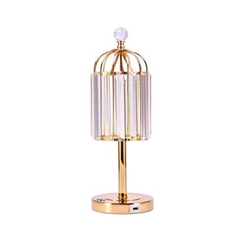 Lampada da Scrivania Lampada da tavolo di cristallo da letto Bedside Lamp Dimming lampada di tocco moda decorativa Soggiorno Bedside Desk Lamp for Soggiorno Tavolino Libreria Luce da comodino Lampada