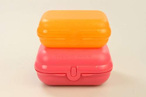 TUPPERWARE To Go TwinSet Größe 3 pastellrot + Größe 2 orange