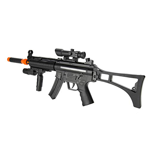 VG Kid's Realistic SMG Toy Machine Gun Rifle with Scope, Flashing Lights and Sounds Pretend Play Toy