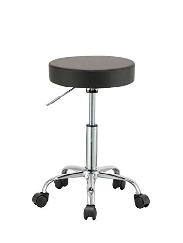 Duhome 410 Adjustable Height Swivel Medical Clinic Tattoo Spa Salon Stool with Wheels Black