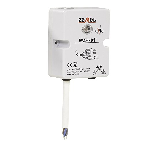 Zamel WZH-01 schemeringssensor lichtsensor opbouw-montage schemerschakelaar waterdicht IP65 230 V