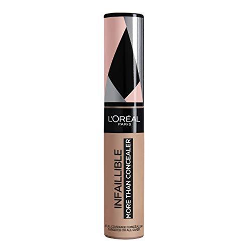L'Oréal Paris Infaillible More Than Concealer Nr. 330 Pecan hochpigmentierter Concealer, extra großer Applikator, langanhaltend, 11 ml