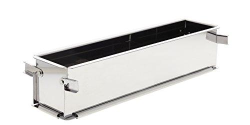 De Buyer 3211.35 bakvorm, roestvrij staal, grijs, 37,5 x 9,5 x 8 cm