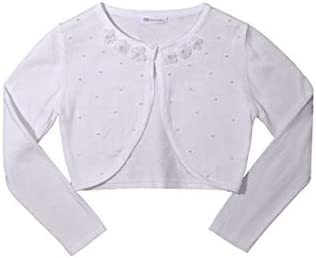 Bonnie Jean Girls White Cardigan Sweater MED 8 10 White product image