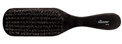 Diane 100% Soft Boar Bristle Brush for Men and Women – Soft Bristles for Fine to Medium Hair – Use for Smoothing, Wave Styles, Soft on Scalp, Club Handle, D8169
