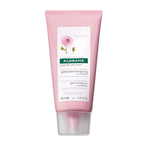 Klorane Gel Conditioner with Peony, Soothing Relief for Dry Itchy Flaky Sensitive Scalp, pH Balanced, Provides Scalp Comfort, 5 oz.