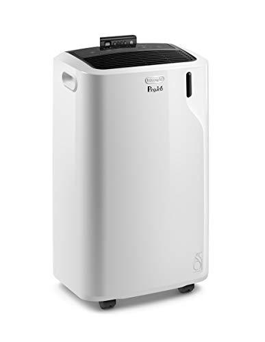 De'Longhi 11500 BTU Portable Air Conditioner, Dehumidifier & Fan + Quiet Mode & Includes Window Kit + Remote Control, 500 sq ft, Large Room, Pinguino6700 (DOE), White