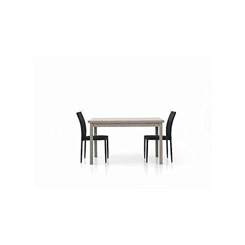 Estea Mobili - TAVOLO LEGNO MODERNO 130x80 ALLUNGABILE rovere grigio SALA SALOTTO CUCINA TEMP - 564