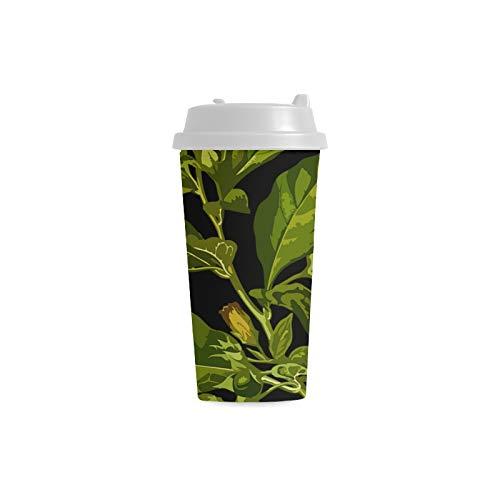 Große Kaffeetasse Belladonna Deadly Herbal Medicinal Medicine 16 Unzen doppelwandige Plastikbecher Pendler Travel Kaffeetassen für Frauen trinken Sport wassergekühlte Tassen