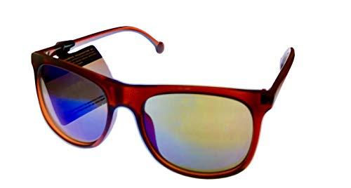 Converse para hombre marrón rectángulo plástico cuadrado gafas de sol, lente polarizada H057