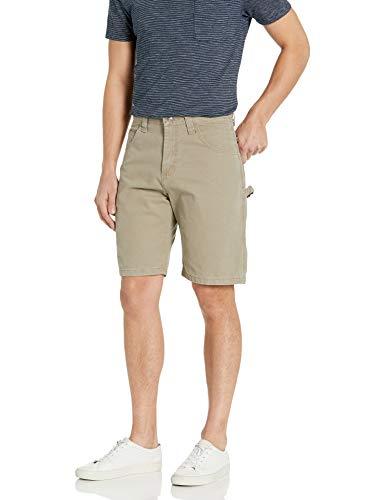 Wrangler Authentics Men's Loose Fit Carpenter Short, Military Khaki, 36