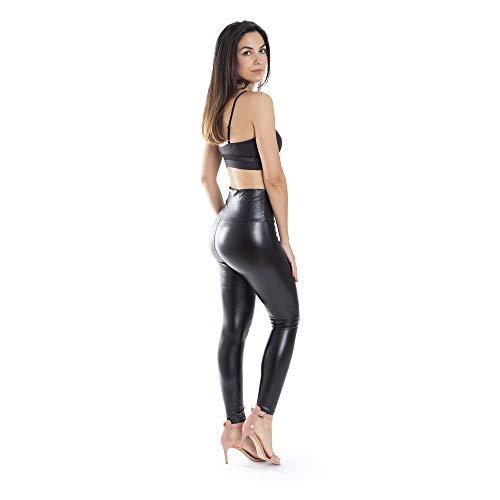 Trendcool Pantalon Cuero Mujer. Leggings Cuero Mujer Elasticos PU. Pantalones Sexy Polipiel Push Up. Pantalon...