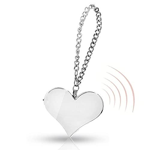 Alarma personal, 130dB forma de corazón SOS Alarma Keychain de Emergencia Portátil, Seguridad Personal Llavero de emergencia Autodefensa (Silver)