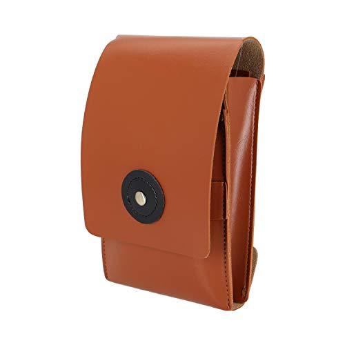 WLXP Hairdressing Tool Bag Pouch Hairdresser Hair Tools Pocket Bag Scissors Folding Waist Bag Retro Scissors Bag That Can Hold 8 Scissors (Color : Brown)