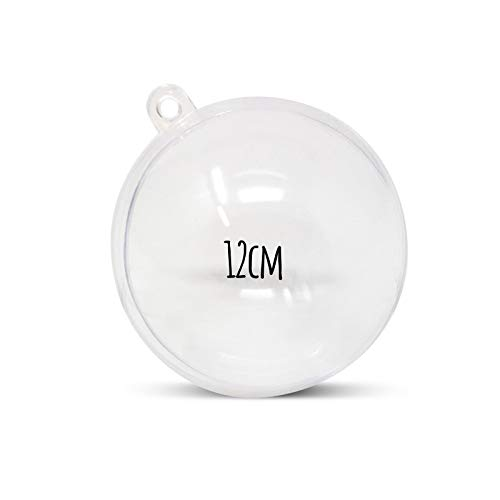 WS Accessories Clear Fillable Baubles [12cm Diameter, Pack of 10