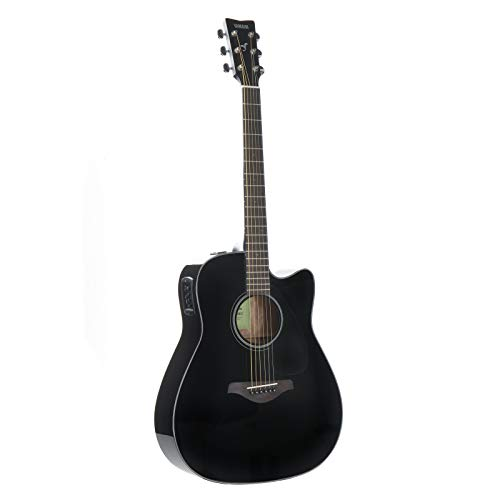 YAMAHA FGX800C - Guitarra eléctrica acústica, Negro (Black)
