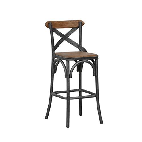 Great St. Hocker Tisch mit stühlen zocker Tisch sitzpolster Eisen-Hochstuhl-Retro Barhocker-festes Holz-Sitz-beiläufiger speisender Stuhl-Hauptküche-Café-Terrasse