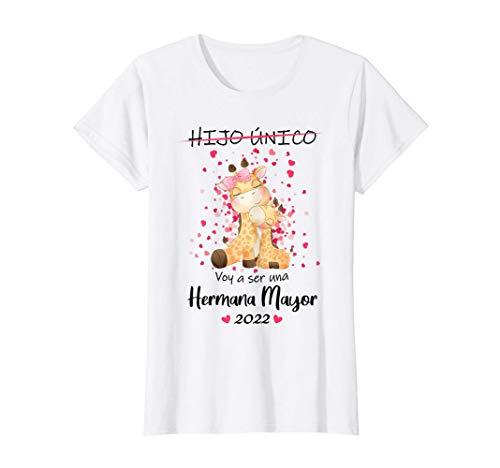 Voy a ser una Hermana Mayor 2022 Hijo Único Anuncia embarazo Camiseta