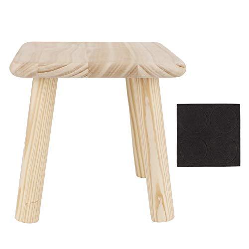 DERCLIVE Taburetes de madera para el hogar multiusos lindo pequeño banco niño asiento DIY muebles taburete