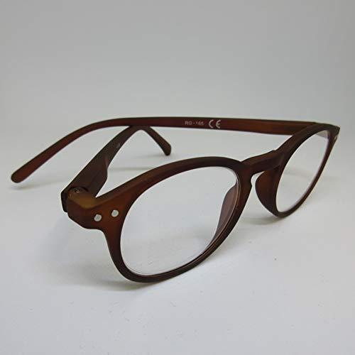 Kost leesbril +3,0 bruin voor hem & haar leeshulp met flexibele beugel & etui
