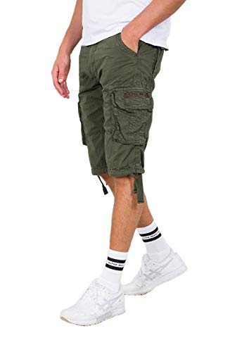 Alpha Industries Jet Shorts Dunkelgrün 32