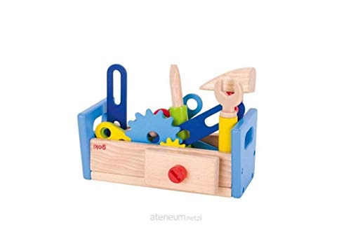 Goki 58976 Werkbank aus Holz, 40-teilig
