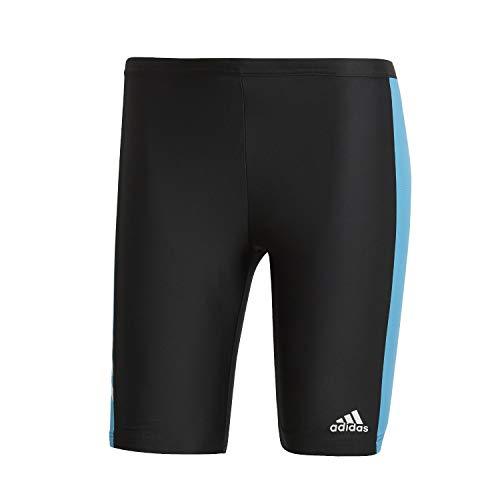 adidas Bermuda Jammer Fitness Three-Second Badeshorts, Pantaloncini da Bagno da Uomo, Nero/shocya/Bianco, 2