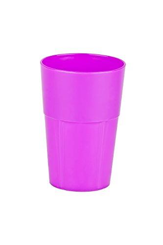 Mojito Design Box Verres à Cocktail, Plastique, Purple Fluo, 0.5 litres, 3 pièces