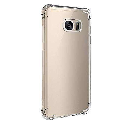 Compatible avec Samsung Galaxy S7 Edge Coque de protection en silicone souple transparente flexible pour Samsung Galaxy S7 Edge. - Multicolore - Medium