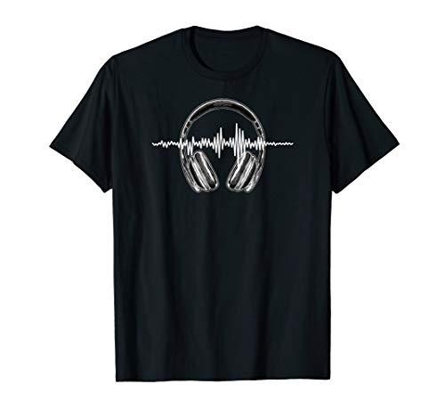 Audio Editor T-Shirt Audio Editing Tee Headphones Sound