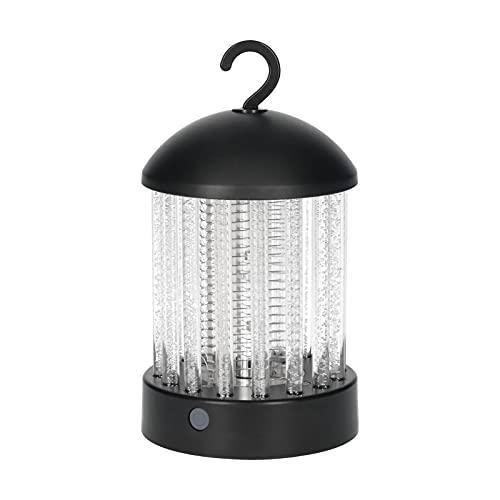 Voupuoda 2 en 1 Bug Zapper y lámpara LED Linterna de camping eléctrica para matar mosquitos 2 modos de luz Impermeable para uso en interiores y exteriores Lámpara de mosquitos recargable de 1800 mAh c