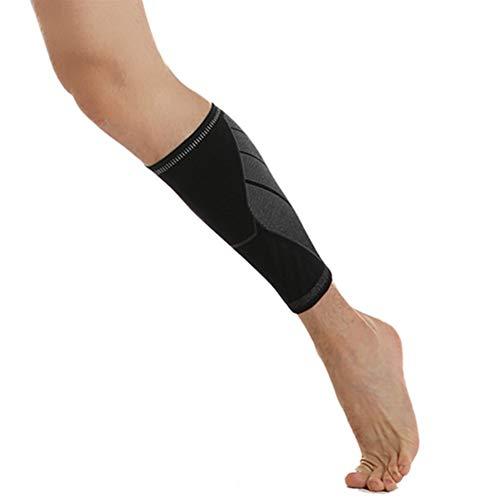 Kunyun, 1 manicotto a compressione per polpacci, per alleviare il dolore alle gambe, per prevenire i crampi per lo sport (taglia: L)