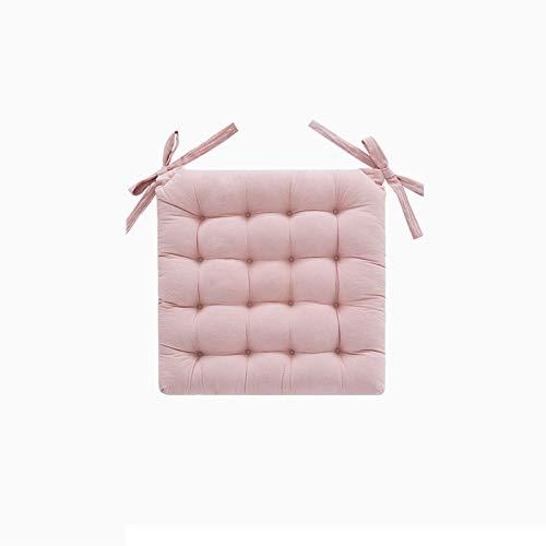 AINEKUI Cojín de algodón decorativo de doble cara cuadrado cojín para decoración del hogar, sofá, cama, silla, 45 x 45 cm (rosa)