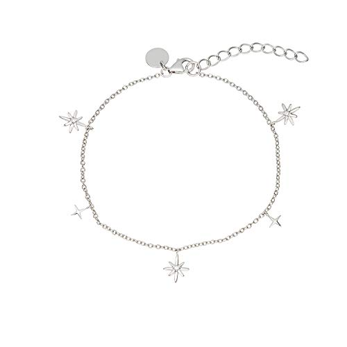 NOELANI Armband für Damen, Sterling Silber 925, Zirkonia Polarstern