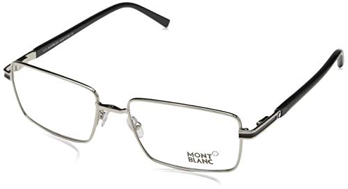 Montblanc Mont Blanc Brillengestelle Mb0709 016-55-17-145 Monturas de gafas, Plateado (Silber), 55 para Hombre