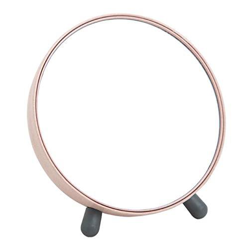 Miroir cosmétique Portable Miroir de vanité de table amovible cosmétique miroir de stockage miroir de maquillage voyage comptoir beauté miroir (Color : Pink, Size : 7 inch)