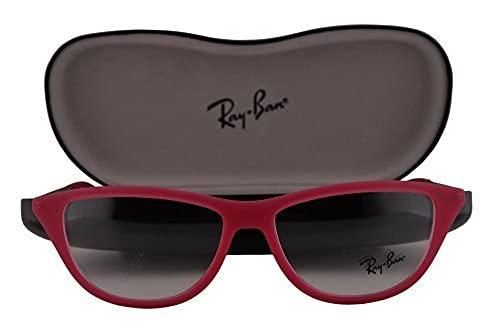 Ray-Ban RX7042 Anteojos 52-14-140 w/lente clara demostración 5471 RB7042 RX 7042 RB 7042 unisex-adulto Caucho rojo fucsia Grande