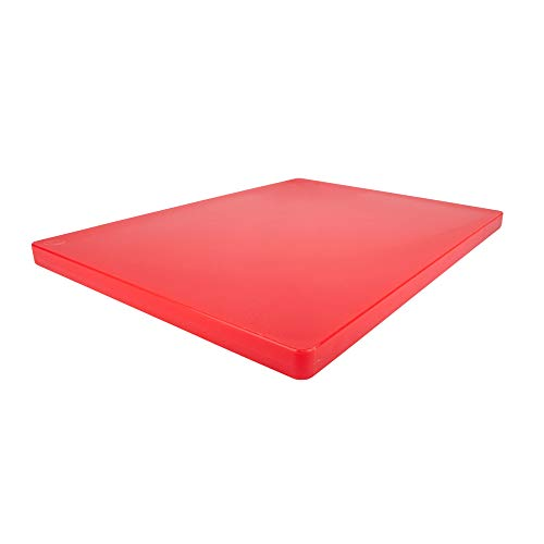 Restaurant Thick Red Plastic Cutting Board 20x15 Large 1 Inch Thick