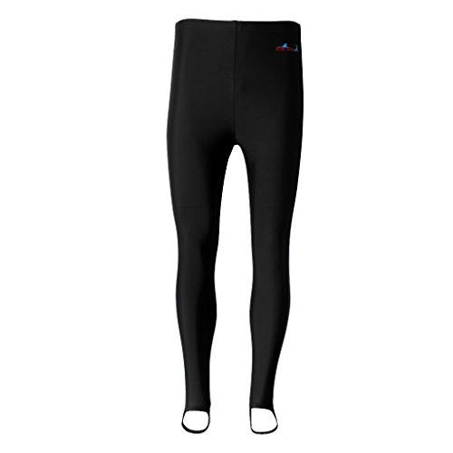 IPOTCH Pantalones de Neopreno Fino Caliente Elástico para Buceo Surfing Natación Traje de Deporte de Agua - Negro, L