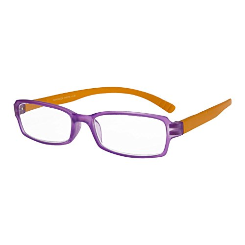 I NEED YOU Readers Purple/Orange Hangover Plastic Frame With Extra Long Spring Temples Reading Glasses +2.0 Strength Or Choose Your Power