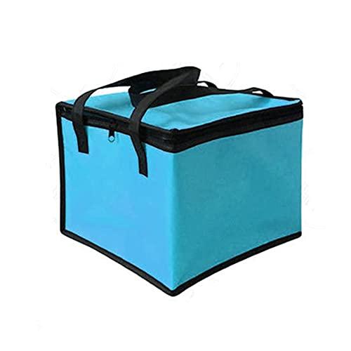 Bolsa térmica con aislamiento de gran capacidad, impermeable, sándwich, papel de aluminio, fiambrera, portátil, plegable, térmica, comida para picnic, azul