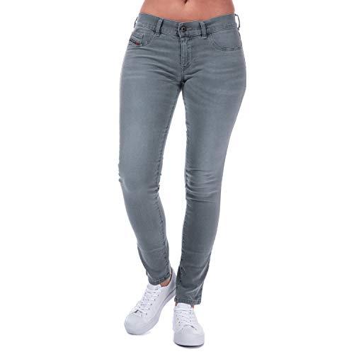 Diesel Livier - Jeans skinny, da donna, colore: grigio Grey 66 cm