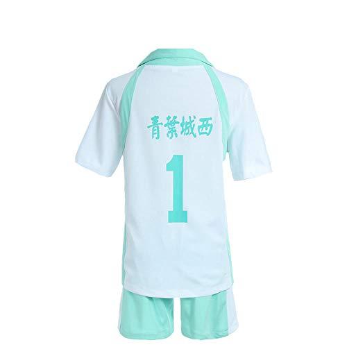 hengGuKeJiYo Karasuno High School Oikawa Tooru Cosplay Costumes, Haikyuu Uniform Volleyball Jerseys Sport Wear Top and Pants Sets