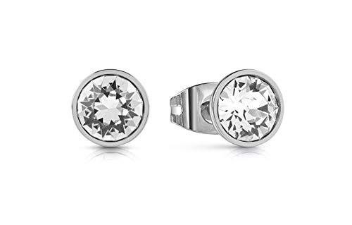 Guess Pendientes de botón Mujer chapado en plata - UBE28025