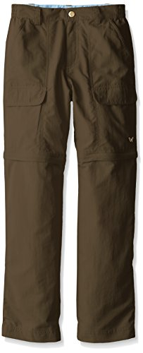 White Sierra Youth Trail Convertible Pants, Bark, Medium