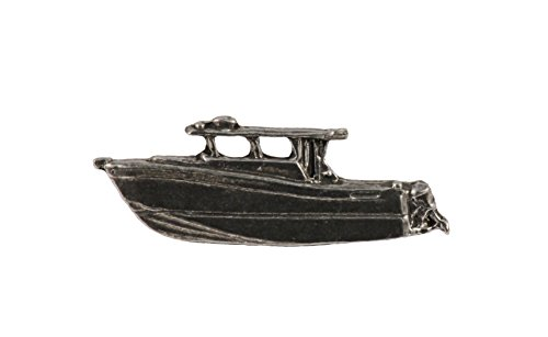 Power Boat, Pewter Pin, A016