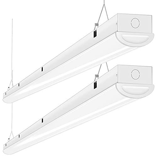 Tycholite 110W LED Shop Lights 8FT Linear Strip Light, 12000LM, 5000K, 8' LED Light Fixtures for Garage Warehouse Supermarket, 8 Foot LED Commercial Ceiling Lighting, 2 Pack