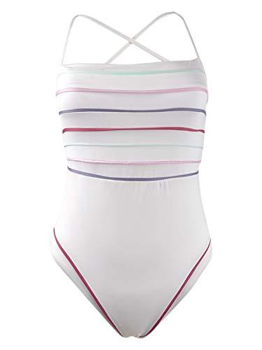 Soluna Women's Total Eclipse High Leg X-Back One Piece Swimsuit Total Eclipse M